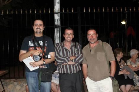 Fernando Guardiola, entre Alfonso Pascual y Pedro Grimao. Tres de los artífices más activos de Objetivo Torrevieja