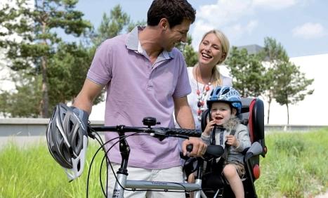 Uso de la bicicleta en familia