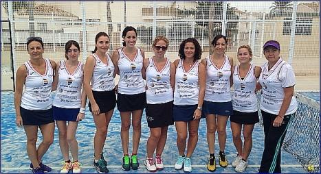 Equipo femenino de padel