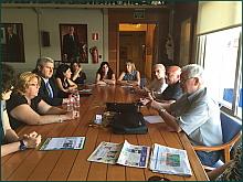Reunión de Los verdes con las AMPAS