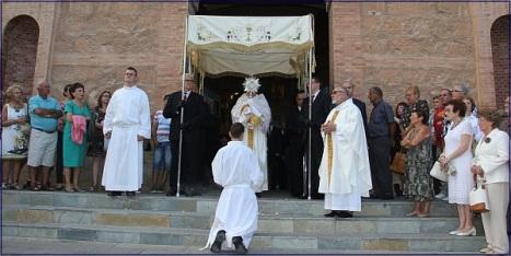 Salida del Corpus del Iglesia de ls Inmaculada (Archivo)