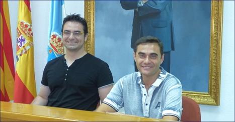 El concejal de fomento, Víctor Ferrández y Juan C. Carmona
