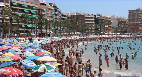 Aspecto que ofrecía la Playa del Cura el pasado sábado (P. Mastral)