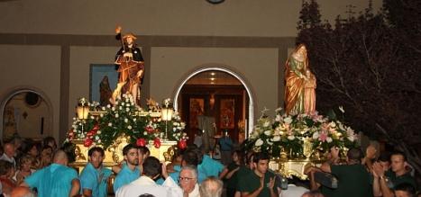 San Roque y Santa Ana, titulares de la Psrroquia del Barrio