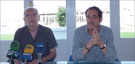Hurtado y Blanco ayer en su comparecencia en rueda de prensa