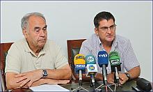 Domingo Pérez y el biólogo municipal,