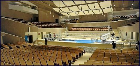 Interior del auditorio, previo a un concierto
