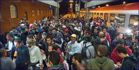 Refugiados Sirios, llegando a Austria
