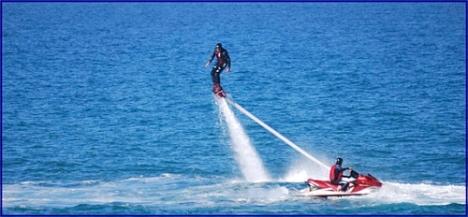 El Flyboard, una de las actividades más solicitadas este verano