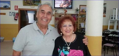El concejal de Tercera Edad, Domingo Pérez y la recién reelegida presidenta de la Casa de San Pascual, Carmen Pérez