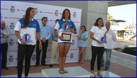 Irene Sánchez en el podium (Foto RCNT)