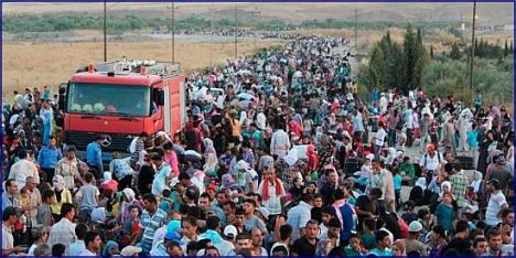 Refugiados Sirios abandonando en masa Hungría, tras la apertura de fronteras