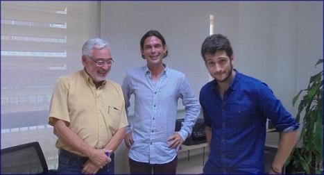 José M. Dolón, Pablo Iglesias y Antonio Estañ