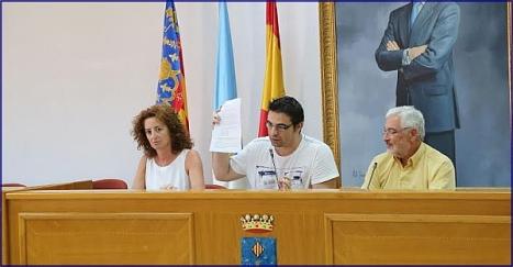 Fanny Serrano, Víctor Ferrández y José Manuel Dolón en la rueda de prensa de esta misma tarde