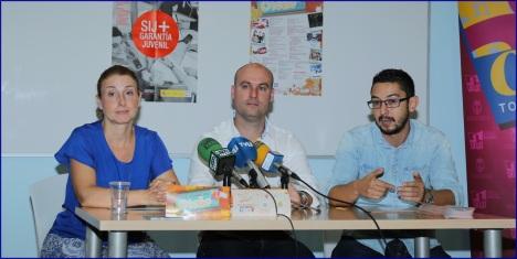 Lázaro, Samper y García Silva en la rueda de prensa de ayer