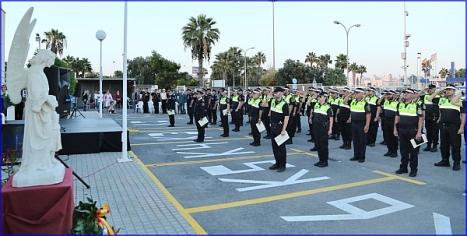 Celebración de la fiesta de la Policía en su patrón, el Ángel Custodio