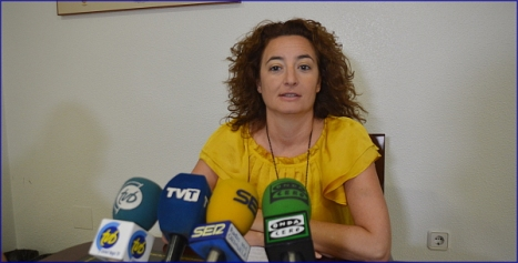 La portavoz de la JGM, Fanny Serrano, ayer en la rueda de prensa /Foto: F. Reyes