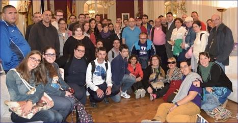 Foto de familai de la visita