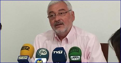 José Manuel Dolón, ayer en rueda de prensa