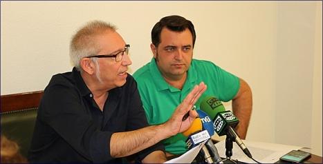 Hurtado y Manzanares, durante la rueda de prensa de ayer
