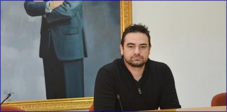 Víctpor Ferrández, durante la rueda de prensa de ayer (F.Reyes)