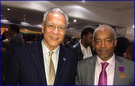 Alcides con el presidente de Cabo Verde