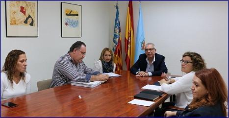 Reunión concejales con la FAPA Gabriel Miró