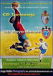 Cartel promocional CD Torrevieja-UD Rayo Ibense