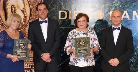 Los premiados del Año 2015: Vicentina Juárez y Adiem