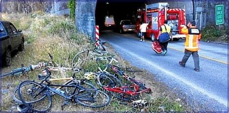 Se quieren evitar imágenes como ésta de accidentes en las carreteras secundarias de la Diputación