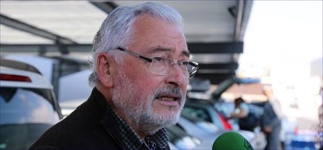José Manuel Dolón en el momento de efectuar las declaraciones (Foto: J. Carrión)