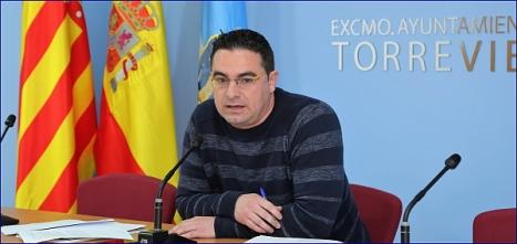 Víctor Ferrández (IU), concejal de empleo (Foto: J. Carrión)