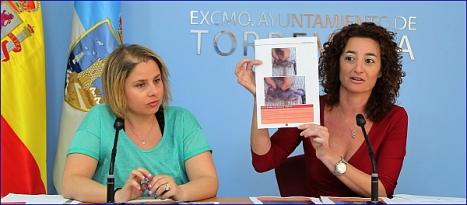 Carmen Morate y Fanny Serrano, durante la rueda de prensas (Foto: J. Carrión)