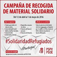 Campaña recogida de material solidario.