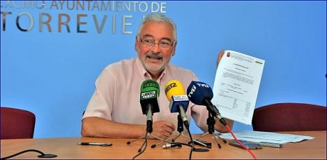 José Manuel Dolón, ayer ayer en rueda de prensa (Foto: J. Carrión)