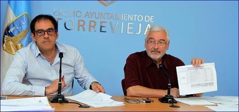 José Manuel DOlon (LV) y el concejal de Obras Públicas, Alejandro Blanco (Sueña) (Foto: J. Carrión)