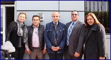 El cónsul de Colombia, en el centro, en una jornada Informativa en Benidorm (Archivo)