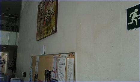 Hueco de la placa retirada en el C.C:.Virgen del Carmen