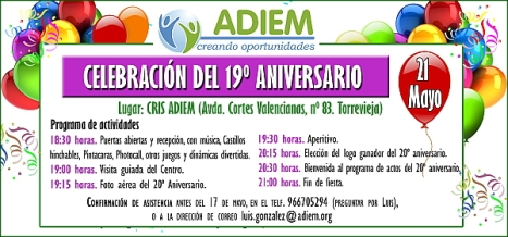 Invitación 19º Aniversario ADIEM (2)