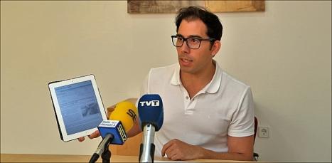 Luis María Pizana, ayer en rueda de prensa