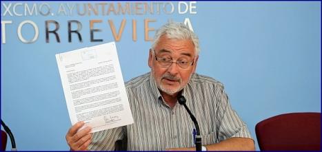 José Manuel Dolón, alcalde de Torreevieja (LV) Foto: J. Carrión
