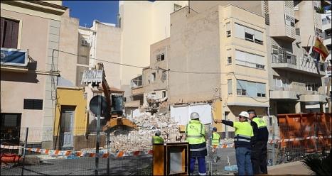 Obra del edificio anexo al Ayuntamiento (Foto: J. Carrión)