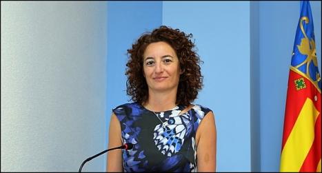 Fanny Serrano, en rueda de prensa (Foto: J. Carrión)