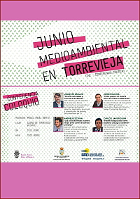 cartel conferencia medio ambiente