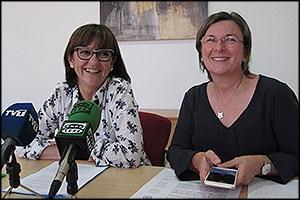 Hita Riera y Agustina Esteve (PP) - Foto: Torreguía