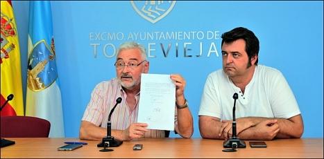 José Manuel DOlón y Javier Manzanares, ayer en rueda de prensa (Foto: J. Carrión)