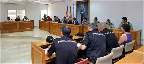 Reunión Junta de Seguridad (Foto: J. Carrión)