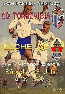 Cartel amistoso Torrevieja-Elche