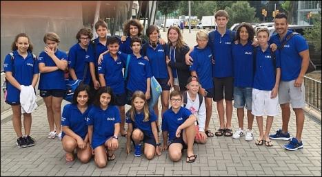 Equipo I-Más de Natación Torrevieja en Barcelona