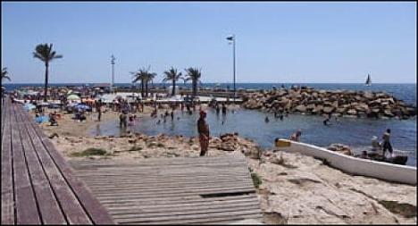 Una de las piscinas naturales del Paseo Marítimo donde acaeció el suceso